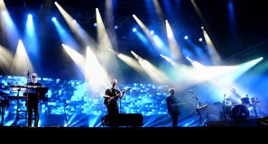 Banda alternativa indipendente alt-J di concerto al suono 2015 di Primavera Immagini Stock Libere da Diritti