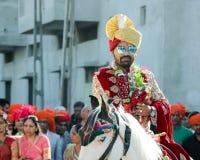 Banda Baja Baarat - la India Ahmadabad fotos de archivo