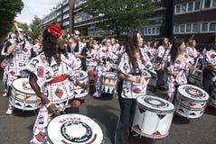 banda batala de drummers percussao στοκ εικόνες