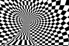 banda in bianco e nero, ripetente le linee, rappresentazione 3d royalty illustrazione gratis
