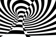 banda in bianco e nero, ripetente le linee, rappresentazione 3d illustrazione di stock