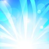 Banda blu astratta con fondo bianco illustrazione vettoriale