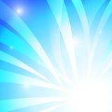 Banda blu astratta con fondo bianco illustrazione di stock