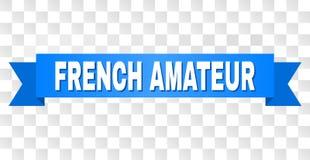 Banda blu con testo DILETTANTE FRANCESE illustrazione di stock