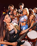 Banda che gioca strumento musicale Immagine Stock Libera da Diritti