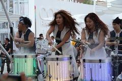 Banda coreana all'Expo 2015 in Milan Italy Fotografie Stock