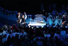Banda coreana del muchacho de CNBLUE de Corea Imagenes de archivo