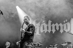 Banda de heavy metal de la gente de Hellfest 2016 del lmöld del ¡de Skà Foto de archivo libre de regalías