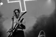 Banda de heavy metal de la gente de Hellfest 2016 del lmöld del ¡de Skà Foto de archivo