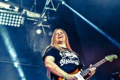 Banda de heavy metal de la gente de Hellfest 2016 del lmöld del ¡de Skà Fotos de archivo libres de regalías