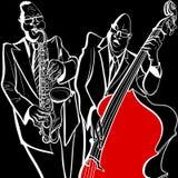 Banda de jazz ilustração do vetor