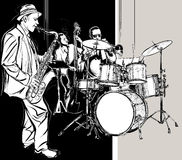 Banda de jazz Foto de Stock Royalty Free