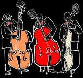 Banda de jazz ilustração royalty free