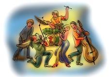 Banda de jazz Imagem de Stock