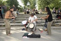 Banda de jazz da rua Fotos de Stock