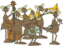 Banda de jazz dos alces de Bull ilustração do vetor