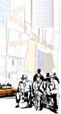 Banda de jazz em New York ilustração royalty free