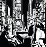 Banda de jazz em New York ilustração stock