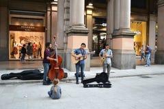 Banda de la calle de Bolonia Imagenes de archivo