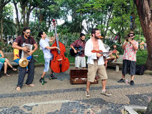 Banda de la calle, Embu das Artes Imagen de archivo libre de regalías