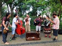 Banda de la calle, Embu das Artes Imagenes de archivo