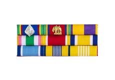 Banda de la insignia de los oficiales del gobierno de la muestra Imágenes de archivo libres de regalías