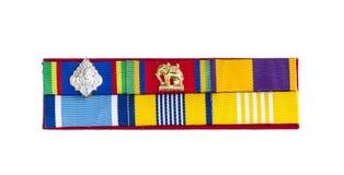 Banda de la insignia de los oficiales del gobierno de la muestra en blanco Imagen de archivo libre de regalías