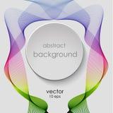 Banda de las líneas abstractas del arco iris Humo del vector Icono para el título ilustración del vector