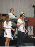 Banda de Leonard Cohen (Lucca 2013) Foto de archivo