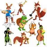 Banda de los animales de la historieta Fotos de archivo