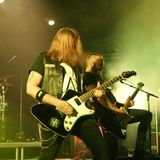 Banda de metal corroída da Suécia foto de stock