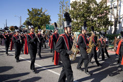 Banda de oro del desfile del dragón Imagen de archivo libre de regalías
