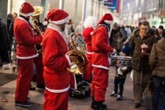 Banda de Papá Noel Imagen de archivo