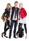 Banda de rock adolescente foto de archivo libre de regalías