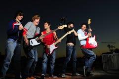 Banda de rock adolescente Imagenes de archivo