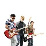 Banda de rock adolescente Imágenes de archivo libres de regalías