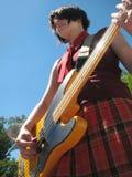 Banda de rock de las muchachas en etapa Foto de archivo