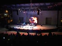 Banda de rock en concierto Fotografía de archivo