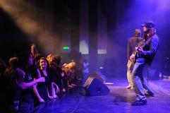 Banda de rock en etapa Imagen de archivo