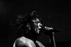 Banda de rock gótica - los 69 ojos Imagenes de archivo
