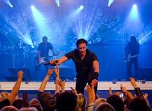 Banda de rock popular finlandesa Lauri Tahka y Elonkerjuu Imagen de archivo libre de regalías