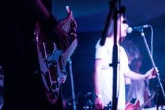 Banda de rock viva fotografía de archivo