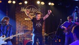 Banda de Zdob si Zdub en Hard Rock Cafe Imagen de archivo libre de regalías