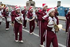 Banda del día de fiesta que marcha Fotografía de archivo libre de regalías