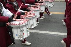 Banda del día de fiesta que marcha Imagen de archivo