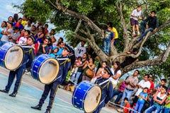 Banda del Día de la Independencia, Guatemala Imagen de archivo libre de regalías