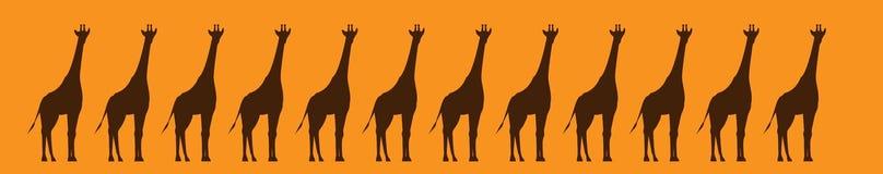 Banda del dibujo gráfico de las jirafas libre illustration