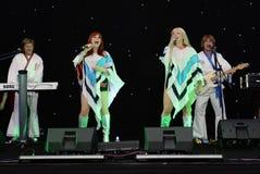 Banda del tributo de ABBA Fotos de archivo libres de regalías
