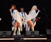 Banda del tributo de ABBA Fotos de archivo