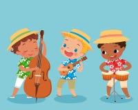 Banda del trio illustrazione vettoriale